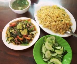 menu món ăn cho quán cơm