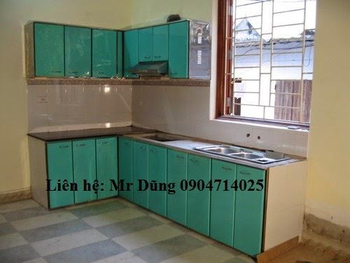 tủ bếp inox hiện đại